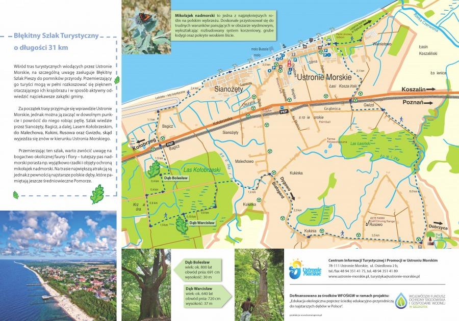 Trasy turystyczne w Ustroniu Morskim