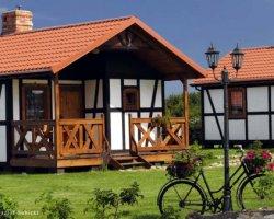 Noclegi - DZIKA RÓŻA Domki drewniane, apartament, pokoje - Darłowo