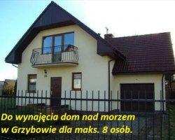Samodzielny dom w Grzybowie 160m2 dla 8 osób.